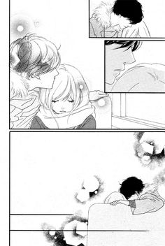 Read Ao Haru Ride Chapter PAGE. 040 Online - Ao Haru Ride PAGE. 040 free and high quality. Ao Haru Ride Kou, Futaba Y Kou, Blue Springs Ride, Cute Romance, My Little Monster, Manga Cute, Image Manga, Manga Pages, Cute Anime Couples