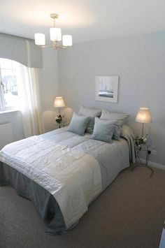 Bedroom colors, cool grey and pale seafoam