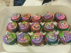 Multi color cupcake