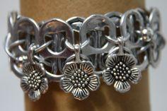 pop tab bracelet with flowers