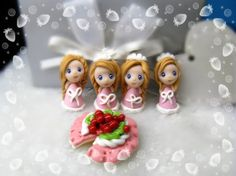 princess beads /polymer clay beads/great gift package.