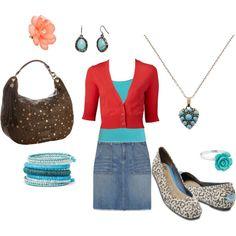 <3 dressing up a jean skirt (my favorite staple piece).
