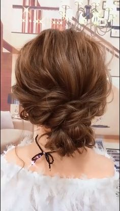 Casual Up-do Hairstyle. Beautiful Hairstyle For Girl, Fairy Hair, Hair Again, Short Wavy, Hair Transplant, Short Haircut, Facial Care, Hair Health, Hair Videos