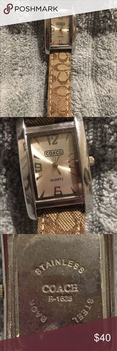 Women's Brown & Tan Coach Watch Gently Used Priced to sell Coach Accessories Watches