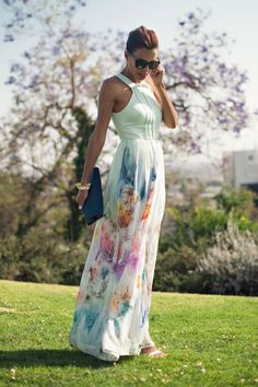 50 Stylish Wedding Guest Dresses That Are Sure To Impress: Glamorous Gown. For more ideas, click the picture or visit www.sofeminine.co.uk