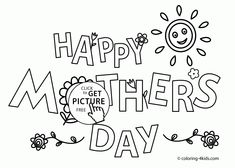 Happy Mother's day coloring pages for kids, printable free Make your world more colorful with free printable coloring pages from italks. Our free coloring pages for adults and kids. Happy Mothers Day Images, Mothers Day Poems, Mothers Day Pictures, Funny Mothers Day, Mothers Day Crafts, Cute Coloring Pages, Coloring Pages To Print, Printable Coloring Pages, Colouring Sheets