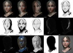 Girl sculpt 1 by Thomas Lalande   Portrait   3D   CGSociety