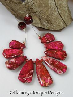 How about a gorgeous red necklace like this? Paired with a blue jacket it would be a knock-out. Variscite Pendant by Flamingotongue Red Necklace, Pendant Necklace, Minerals, Pairs, Jacket, Trending Outfits, Unique Jewelry, Handmade Gifts, Blue
