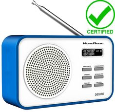 Moreaudio dab + #radio desire clock #alarm #portable travel recharge battery blue,  View more on the LINK: http://www.zeppy.io/product/gb/2/192027381869/