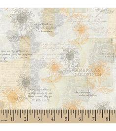 Goldfinch Stencil Floral
