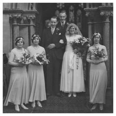 1930s | 1930s Photos. Wedding Pictures of Real People Fashion History 1930s