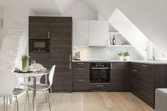 Küche unter der Dachschräge | Küche im Loft Köln | Pinterest ...