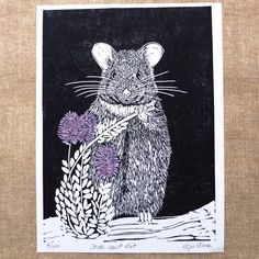 Excited to share the latest addition to my #etsy shop: Australian Native Rat linocut / Stick-nest rat Lino Cut / Lino Print Australian Animal / Original Artwork / Black and White #art #printmaking #valentinesday #linocut #handprint #australiananimal #nursery #children #rat