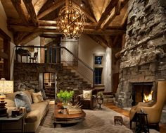 Rustic living room by Peace Design, love several of their designs.