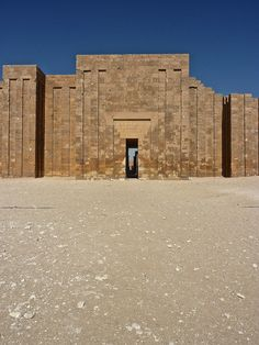 Funerary Complex of Djoser at Saqqara, designed by the architect, Imhotep