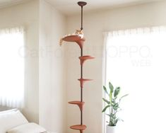Cat Forest Climbing Tree The Green Head - Then Check Out This Cool New Cat Forest Climbing Tree From Oppo In Japan This Unique Non Tipping Cat Climbing Tree Has A Central Trunk That Is Height Adjustable To Fit Between The Floor And Ceiling A Cat Climbing Tree, Interior Design Minimalist, Tree Plan, Cat Towers, Fancy Cats, Cat Room, Cat Wall, Cat Tree, Cat Furniture