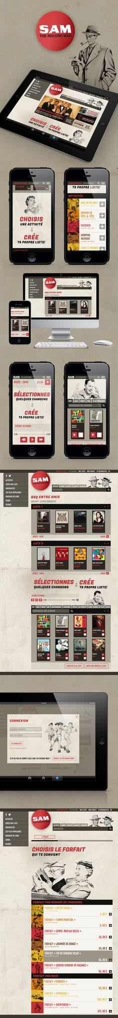 Sam the record man on Behance