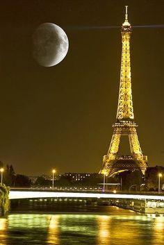 Paris moon.