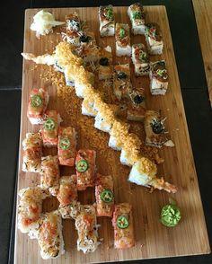 Sushi Time. #sushi #sashimi #aburi #salmon #ebi #saba #hotate by foodiegramca