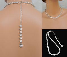 Crystal Bridal Necklace Halo Crystal Wedding by CrystalAvenues