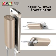 Squid 5200 mAh Power Bank #Portable #external #powerbank #smartphone #tabletPC #expressbatterycharging #DualUSBports  #UAE #UnitedArabEmirates #AbuDhabi #Dubai #Sharjah #Ajman #OrderNow : https://goo.gl/pKax7F