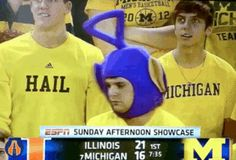 Stupid Michigan!  This lonely, dancing teletubby: | The 25 Whitest Things That Have Ever Happened