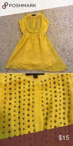 Stud Embellished Sundress Sunny yellow sundress! Toughened up with a studded parted on the bodice. So pretty. ☀️ Lucca Couture Dresses