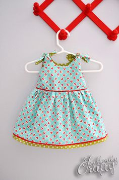 Infant dress pattern and tutorial- itty bitty take home baby dress