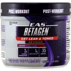 EAS Betagen Cherry 20 svg | Regular Price: $24.50, Sale Price: $17.99 | OvernightSupplements.com | #onSale #supplements #specials #EAS #PostWorkout  | Betagen is a unique combination of creatine and Revigor the amino acid metabolite HMB These ingredients have been clinically shown to improve muscle strength and body composition Each 35 calorie serving taken post workout helps people achieve the benefits of getting lean and toned