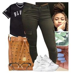 """""""✨"""" by msixo ❤ liked on Polyvore featuring Black Scale, MCM, NIKE and GlassesUSA"""