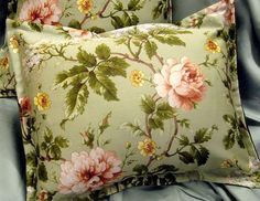 "Ralph Lauren fabric CUSTOM MADE ""Standard"" Shams YORKSHIRE Floral Rose  20 x 26 #CustomMade #StandardShams"