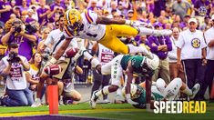 Speed Read: Offense Shows Wrinkles, Room to Improve - LSU Tigers Lsu Tigers Football, Speed Reading, Athletics, Basketball Court, Purple, Sports, Room, Hs Sports, Bedroom