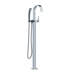 Classic Freestanding Chrome Floor-mounted Tub Filler with Handshower SJ-9112-Wholesale Faucet