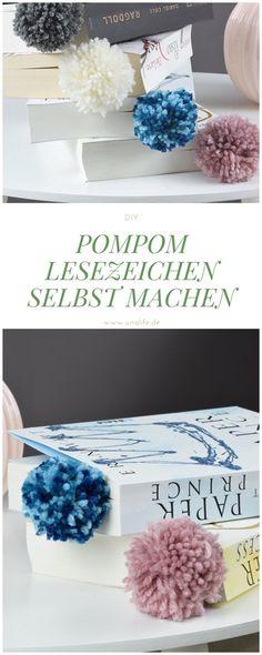 DIY Lesezeichen mit Pompom in 5 Minuten selber machen!