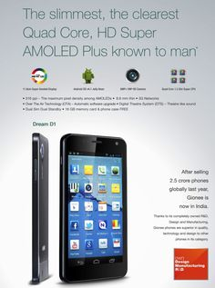 Gionee Dream D1 is a stunner when it comes to performance and display- http://gionee.co.in/Dream_D1_Smartpone_gionee.html