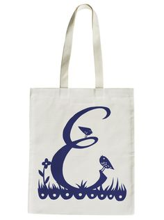 Rob Ryan for Alphabet Bags 'E' by misterrob on Etsy, $24.30