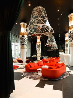 Marcel Wonders is one of the best interior designers in the world and Room Decor Ideas brings you Living Rooms by Marcel Wanders to Inspire your Next Project! Design Hotel, Design Studio, Restaurant Design, Western Restaurant, Restaurant Lighting, Chinese Restaurant, Restaurant Bar, House Design, Top Interior Designers