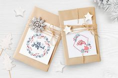 Merry Christmas wreath in Illustrations on Yellow Images Creative Store