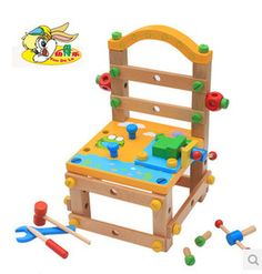 Preschool children's educational wooden toy building blocks removable nut versatile tool frog chair Luban chair-in Model Building Kits from Toys & Hobbies on Aliexpress.com | Alibaba Group