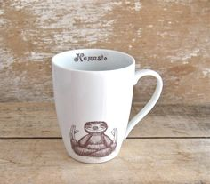 Mug Namaste Baby Sloths Coffee or Tea cup by SecondChanceCeramics, $20.00