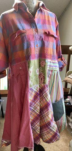 Size large artsy / funky / upcycled     Tunic/ dress