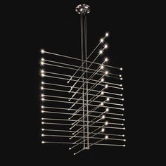 Paul Rudolph for Modulightor, 'Adastra' Chandelier Light Fixture  #GISSLER #interiordesign