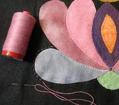 Fantastic post with links to sites providing ideas on how to work with wool applique at Always Playing With Aurifil Thread! To read more alwaysquilting.wo...