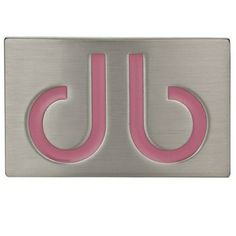 DB Pink Infill Buckle by Druh Belts.  Buy it @ ReadyGolf.com