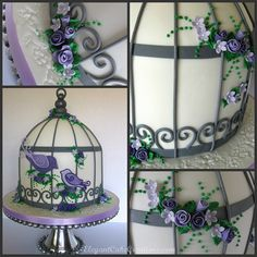 I love this cake. Dying to make one!! Birdcage Baby Shower Cake by Elegant Cake Creations AZ, via Flickr