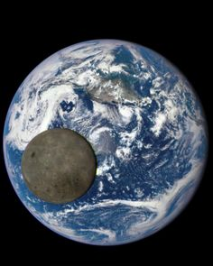The moon seen crossing the Earth from the DSCOVR spacecraft