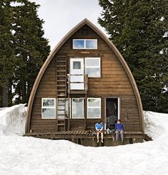 After hiking, skiing, or snowshoeing 11 kilometres from a Squamish parking lot, alpinists rest their heads at the Elfin Lakes Hut.