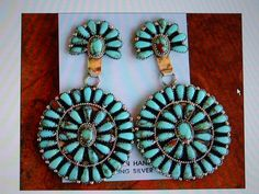 Navajo Sterling Silver and Turquoise Concho by SilverDreamGallery