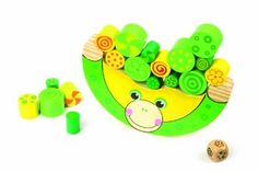 Legler: Traditional Wooden Balancing Frog Preschool Toys: Amazon.co.uk: Toys & Games