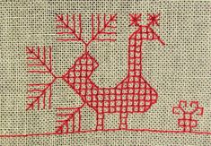Motti langassa: Kesän käsityönä käspaikka Kasuti Embroidery, Embroidery Designs, Floral Logo, Bird Patterns, Plastic Canvas Crafts, Tapestry Weaving, Logo Design Inspiration, Folk Art, Bohemian Rug